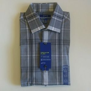Apt.9 Premier Flex Slim Fit Shirt 14. 32/33. NWT